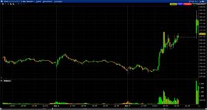 Tesla Chart nach Handelsaussetzung