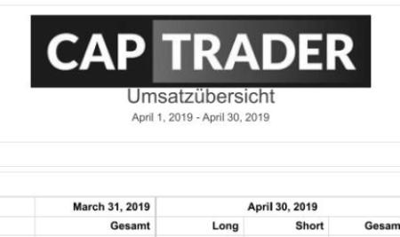 Echtgeldchallenge – April 2019 Bilanz