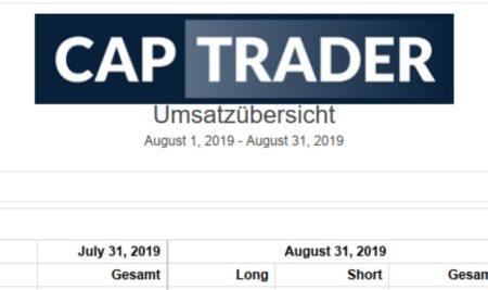 Echtgeldchallenge – August 2019 Bilanz